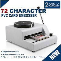 Manual Estampadora Máquina PVC Identificación Tarjeta de Crédito Sellado