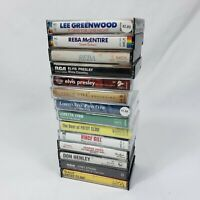 Lot of 14 Country Music Cassette Tapes Reba, George Jones, Patsy Cline, Elvis