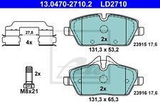 ATE CERAMIC BREMSBELÄGE HINTEN BMW 1 er E81 E82 E87 E88 MINI R55 R56 R57 R58 R59