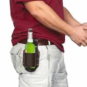 Portable Waist Holster Beer Belt Bag Leather Can Sheath Wine Bottles Holder