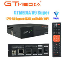 GTMedia V9 Super 1080P H.265 DVB-S2 TV Receiver PowerVu,Biss key, Built-in WiFi