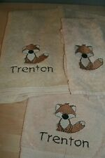 Fox Woodland Personalized 3 Piece Bath Towel Set Any Color
