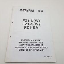 Yamaha Motorbike FZ1-N(W) FZ1-S(W) FZ1-SA Factory Assembly Manual 1st ed Oct '06