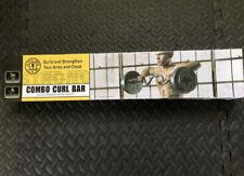 Golds Gym Combo Curl Bar Standard Ez Bar w/Lock Collars **FAST FREE SHIPPING**