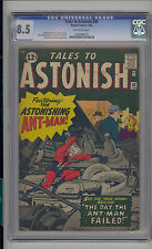Tales to Astonish #40 CGC 8.5 VF+ Unrestored Marvel early Ant-Man OFF-WHITE Pgs