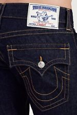 NEW TRUE RELIGION JEANS $229 MENS STRAIGHT FLAP JEANS IN BODY RINSE SZ 38