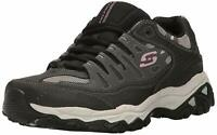Skechers Mens Memory Fit 50125 Low Top Lace Up Running, Charcoal/Black, Size 9.5