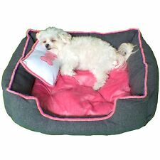 Pink Luxury Pet Bed - Extra Plush, Great Starter Beds for Pups and Small Dogs