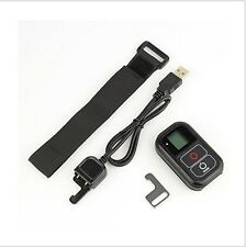Wi-Fi GoPro Control Remote Waterproof Charge Wrist Strap f. HERO 4/3+/3 Black