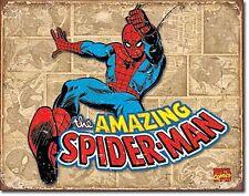 Spiderman Retro Panels metal sign     420mm x 310mm    (sf)