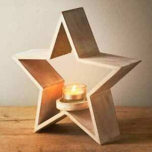 Wooden Star Candle Holder