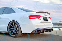 Audi A5 S5 S-Line Diffuser Diffusor Undertray Aero Body kit Rear RS5 Fiber glass