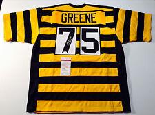 Pittsburgh Steelers Joe Greene Autographed Bumblebee Custom Jersey JSA Sz XL