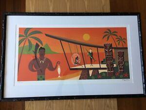 SHAG Josh Agle 'Little Fish' art print framed bamboo tiki new zealand