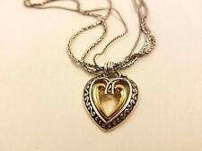 Silver Gold Necklace Brighton Heart Multi Chain
