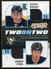2009-10 Upper Deck MVP Two on Two RCMS Richards Carter Staal Malkin Quad Jersey