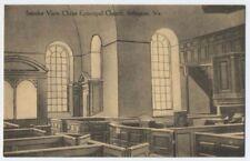 1909 IRVINGTON VA Christ Episcopal Church Lancaster County nr Kilmarnock postcrd