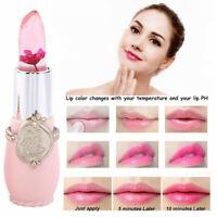 1X Flower Jelly Lipstick Transparent Color Magic Changing Lip Temperature Change