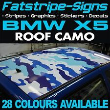 BMW X5 ROOF CAMO GRAPHICS STICKERS STRIPES DECALS CAMOUFLAGE M SPORT SE D 4x4