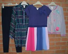 100% MONSOON Girls Bundle Dress Jeans Grey Applique Jacket Age 9-10 140cm