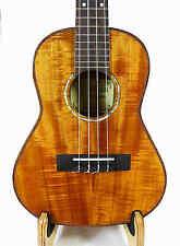 Alulu Solid Curly Acacia Koa var. PQ Island Tenor Ukulele, Free Hard Case BU503