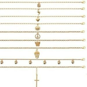 Anklet Ankle Bracelet New Plated Gold Pendant of Your Choice