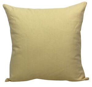 "Zesty Lemon Yellow Plain Cushion Covers 18x18"""