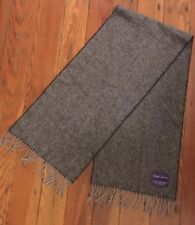 EUC Ralph Lauren Purple Label Gray 100% Cashmere Scarf Made in England