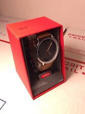 "$64 Timex Men's  Watch ""BRAND NEW"" 30M Water R  Leather Strap Easy Read"