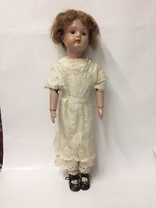 "Pat. 1911 22"" Shoenhut Wood Doll Spring Hinges"