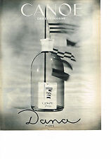PUBLICITE ADVERTISING  1963   DANA  CANOE  eau de Cologne