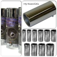 New Silver Chrome Car Muffler End Exhaust Trim Tail Pipe Tip (To fit up to 60mm)