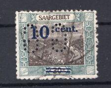 Saar Firmenlochung Perfin 72 Postmarked (A6640
