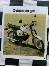 Simson S51, Blechschild