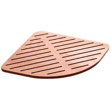 Lineabeta pedana doccia antiscivolo 64x64 angolare in legno marino piatto 80x80