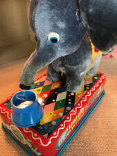 Collectible Jumbo Bubble Blowing Elephant~Tin Toy in Original Box~Circa 1950's~