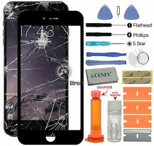 APPLE IPHONE 6 PLUS (5.5 INCHES) Front glass screen replacement repair kit Black