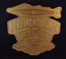 20,000 Leagues Under The Sea Ride Inspired Sign / Plaque - Hammered Gold Color