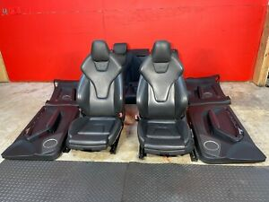 08-17 AUDI A5 S5 8T LEATHER SEATS SET FRONT/REAR BLACK COLOR WITH DOOR PANELS
