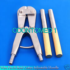 """T/C Wire PIN & ROD Cutter Adjustable Handle 18"""" Orthopedic Surgical Instruments"""