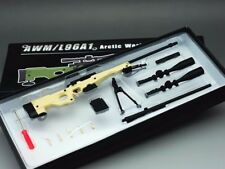 minitoys 1/6 Scale Weapon Model AWML96A1 PM Sniper Rifle Sand Color Gun Toy