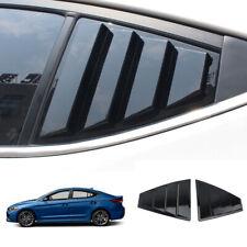 FOR Hyundai Elantra 2016-2020 ABS black Rear Side Window Vent shutter trim 2pcs