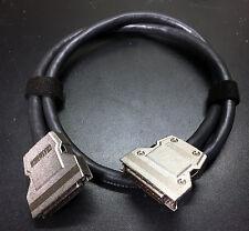 HD50 M/M Dark Black 3ft SCSI-2 Cable Apple Macintosh PC SCSI UNIX Vintage 50-pin