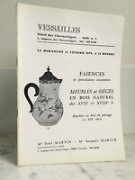 Catálogo De Venta Versailles Loza de Barro Muebles Y Asiento 1979