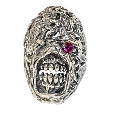 Nemesis Skull Ring .925 silver Resident Evil Biker Heavy Metal Gothic feeanddave
