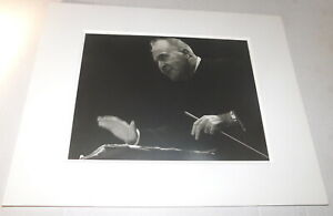 ORIG. PHOTO Great Conductor BRUNO WALTER - SIGNED by Photographer EMMERICH GARA
