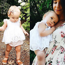 Newborn Baby Girls Kids Clothes Cotton Bodysuit Romper Jumpsuit Playsuit Outfits
