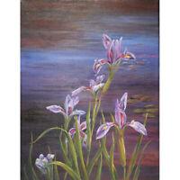 Full Drill Diamond Painting Kit Like Cross Stitch The Irises Flowers DIY ZY126F
