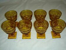 Set of 8 Indiana Glass - Cordial / Dessert Goblets - Amber - Park Lane Colony