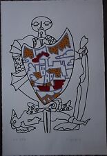 Charles LAPICQUE - Lithographie signée le blason de la mort 1969 *